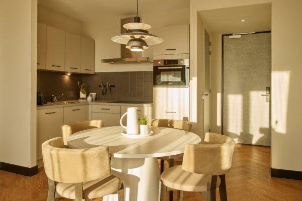 Kitchen at The Garden Apartments, Amsterdam