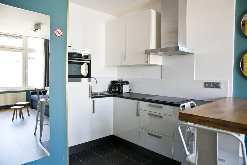 Kitchenette at Cityden Museum Square Apartments, Amsterdam