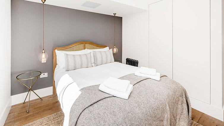 Double bed at BE: Drury Lane Apartments