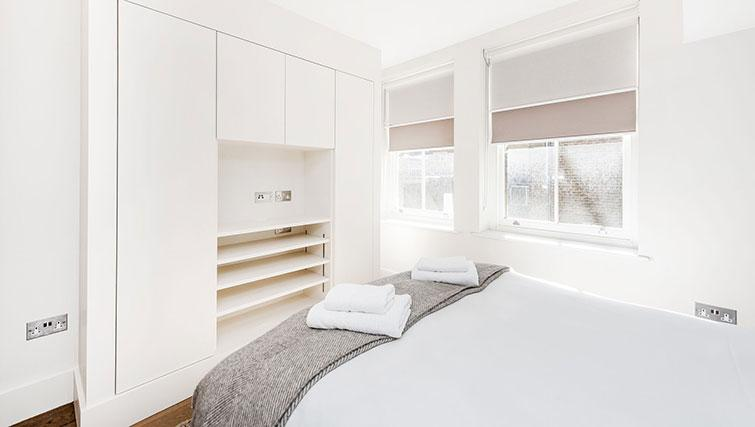 Bright bedroom at BE: Drury Lane Apartments