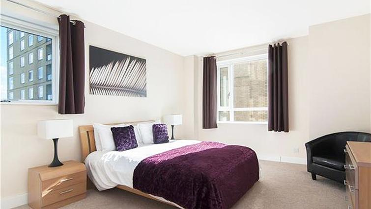 Comfortable bedroom at Belgrave Court Apartments