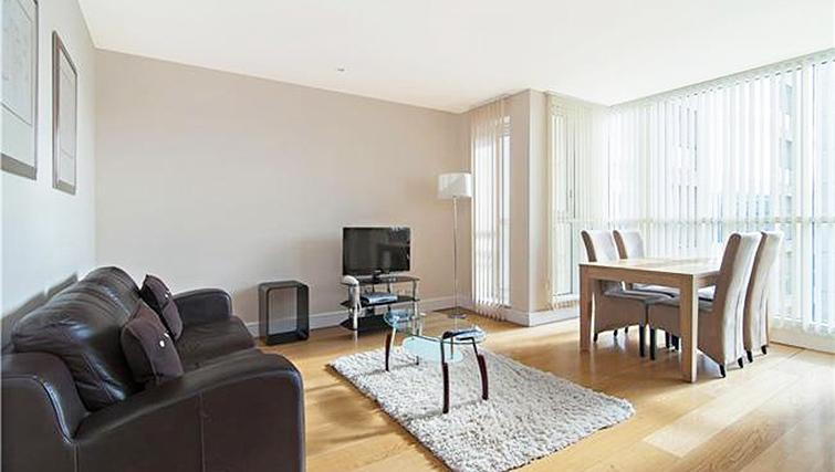 Charming living area at Belgrave Court Apartments