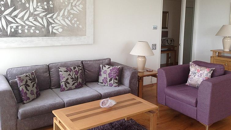 Spacious living area at Belgrave Court Apartments