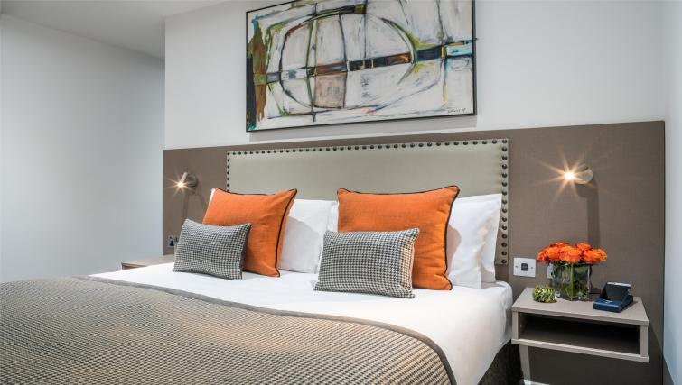 Modern bedroom at The Chronicle Aparthotel
