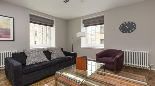 Living room at Malt House Apartments