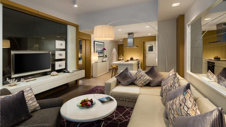 Living room at Beach Rotana Residences