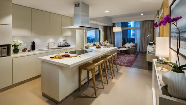 Kitchen at Beach Rotana Residences