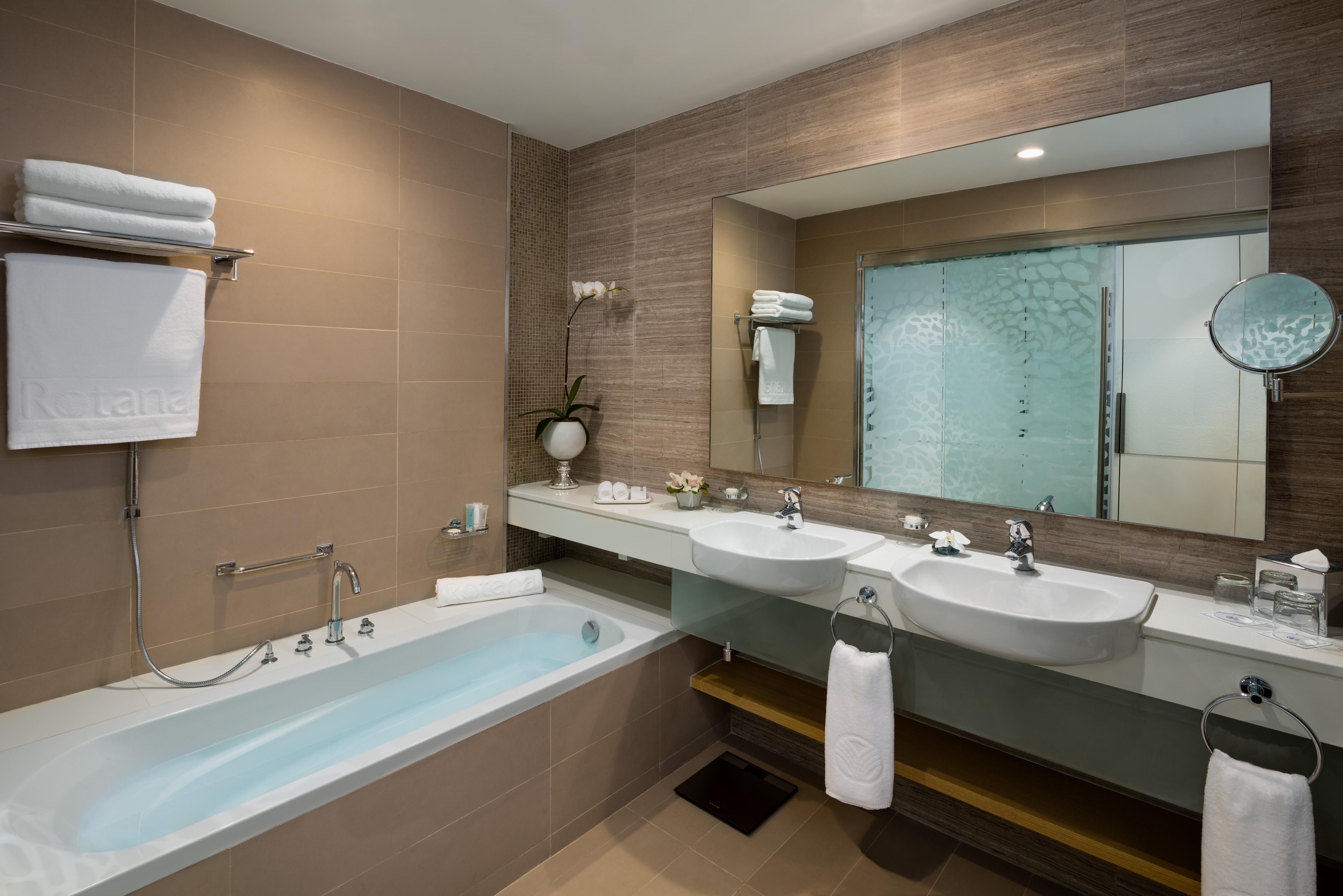 Bathroom at Beach Rotana Residences