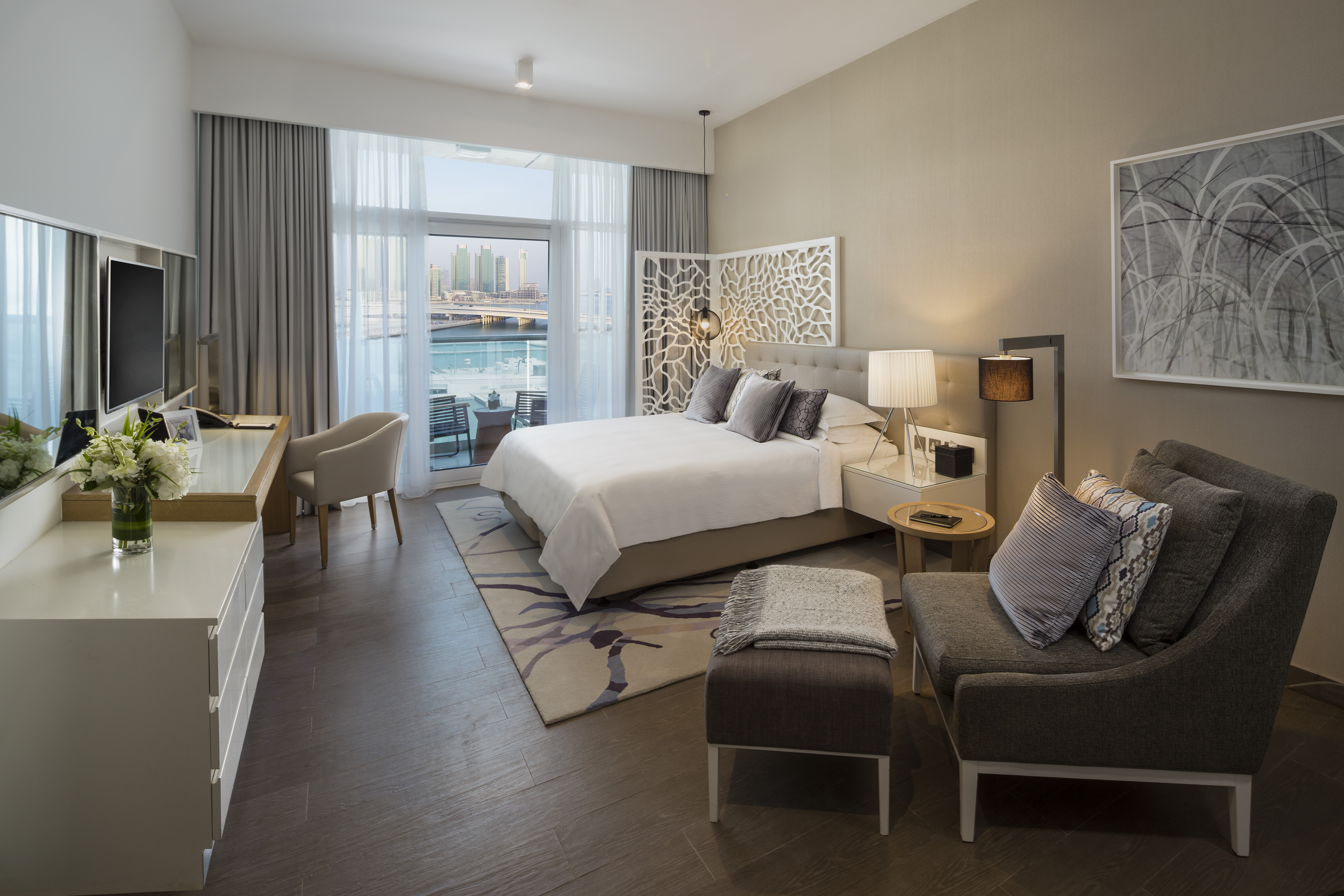 Large bedroom at Beach Rotana Residences