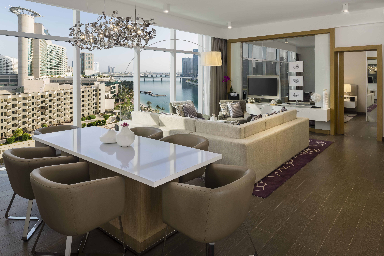 Dining table at Beach Rotana Residences