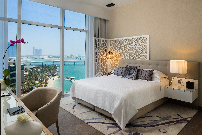 Bedroom view at Beach Rotana Residences