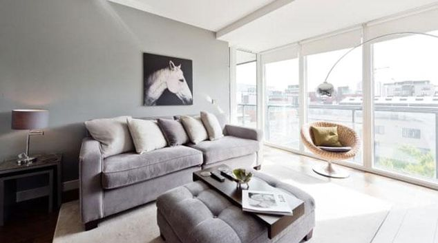 Living room at Riverside Quay Apartments
