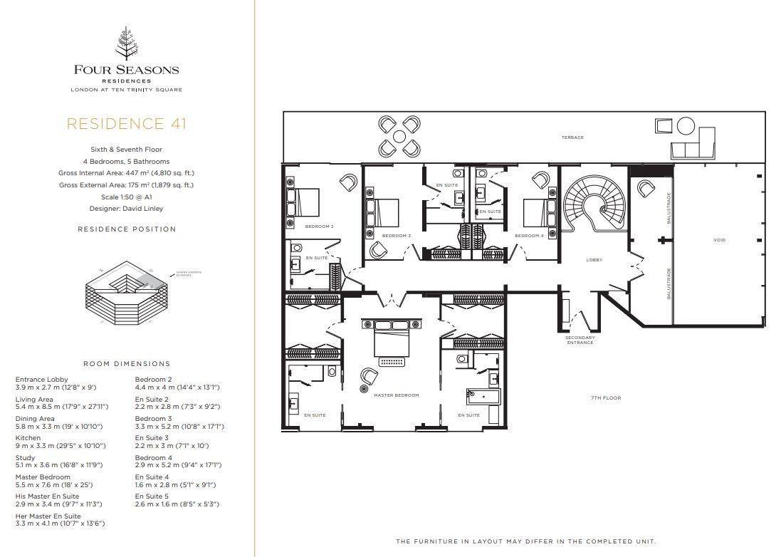 Floor plan 6 at Four Seasons Residences - Ten Trinity Square