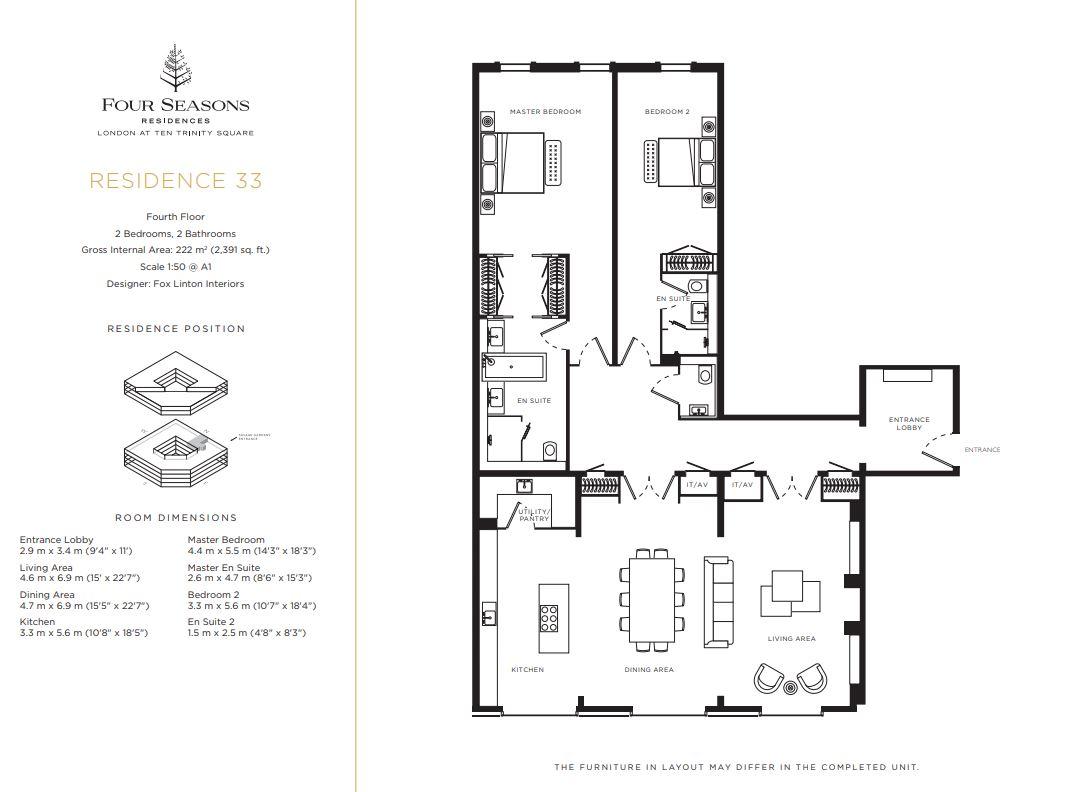Floor plan 2 at Four Seasons Residences - Ten Trinity Square
