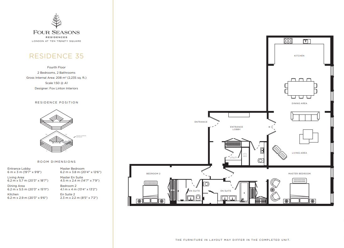 Floor plan 4 at Four Seasons Residences - Ten Trinity Square