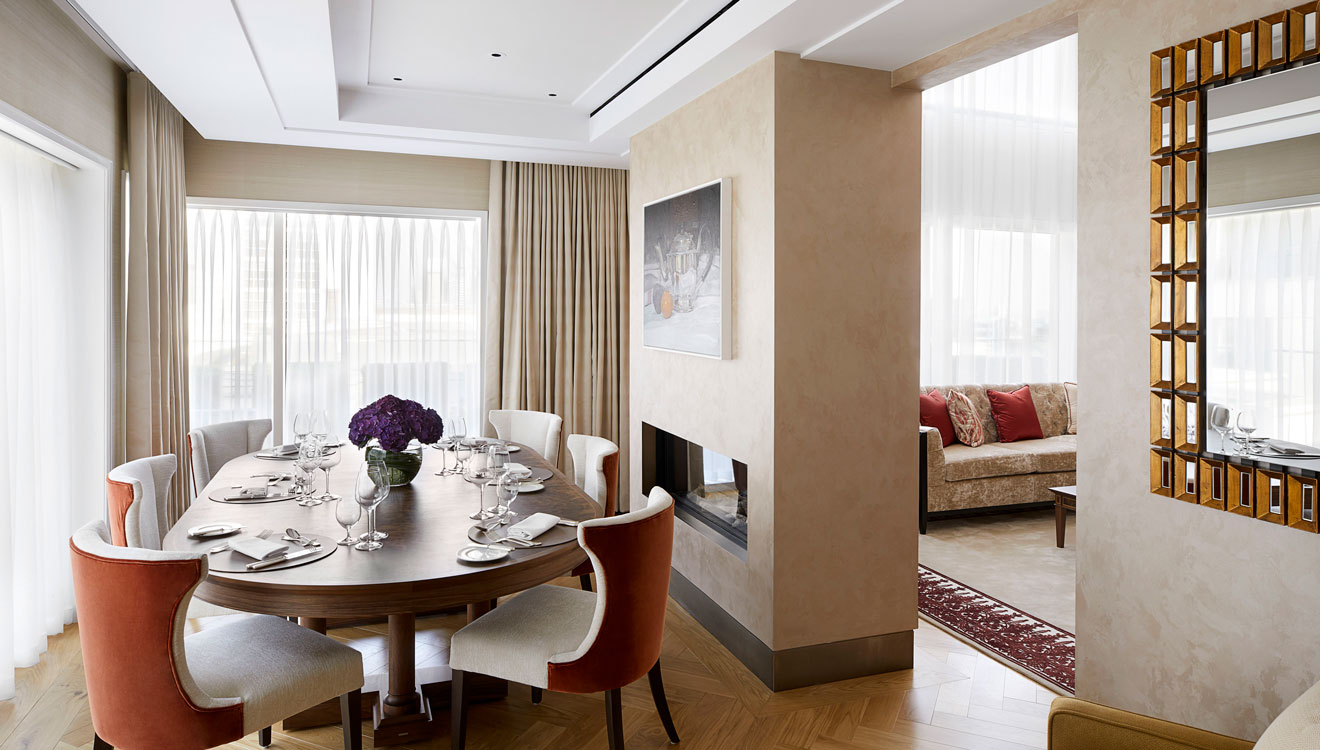 Dining table at Four Seasons Residences - Ten Trinity Square