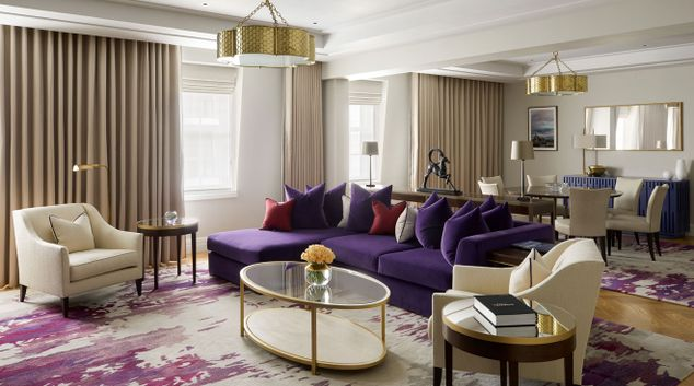 Living room at Four Seasons Residences - Ten Trinity Square
