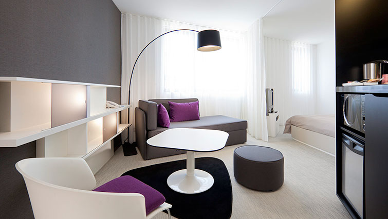 Living area at JF Kennedy Quarter Suites