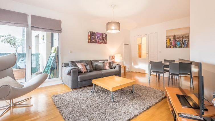 Living room at Falguiere Apartment