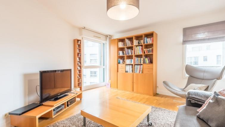 Living space at Falguiere Apartment