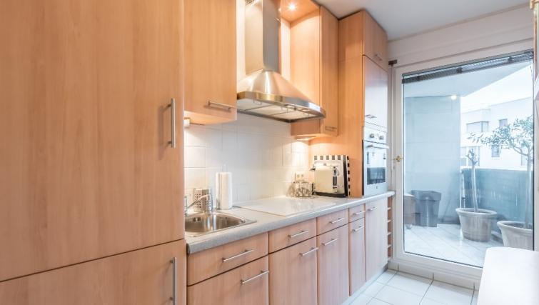 Kitchen at Falguiere Apartment