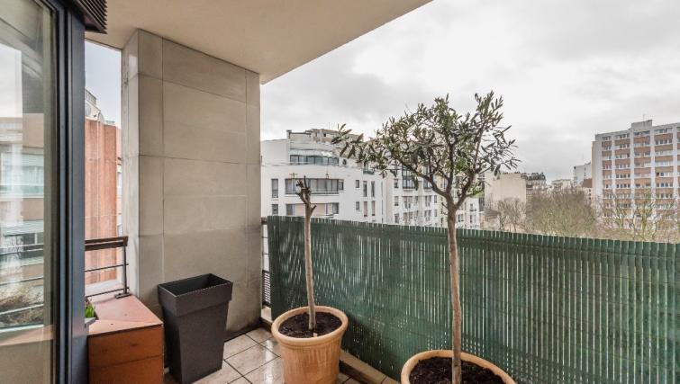 Balcony at Falguiere Apartment