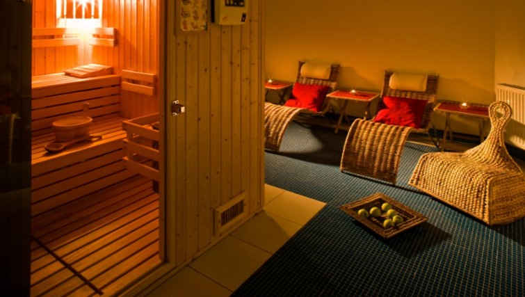 Tranquil sauna at Mamaison Residence Sulekova