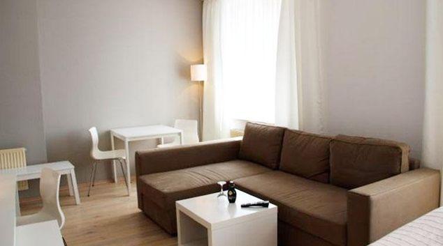 Living area at Lindeneck Apartment Hotel