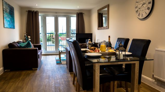 Dining area at London Heathrow Living Serviced Apartments