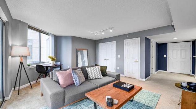 Living room at Massachusetts Avenue Apartment