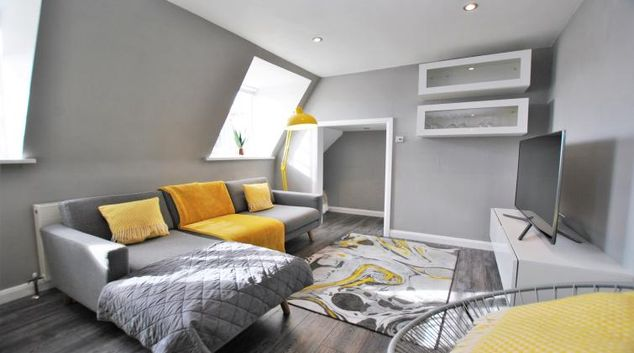 Living room at Church Street Serviced Apartment