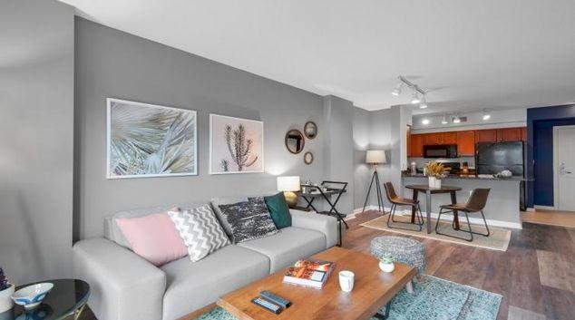 Living area at Logan Circle Apartment