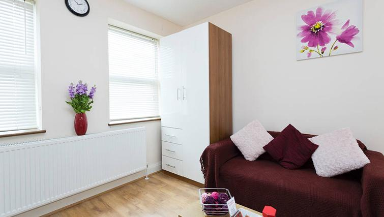 Cosy living area at Heathrow Apartments