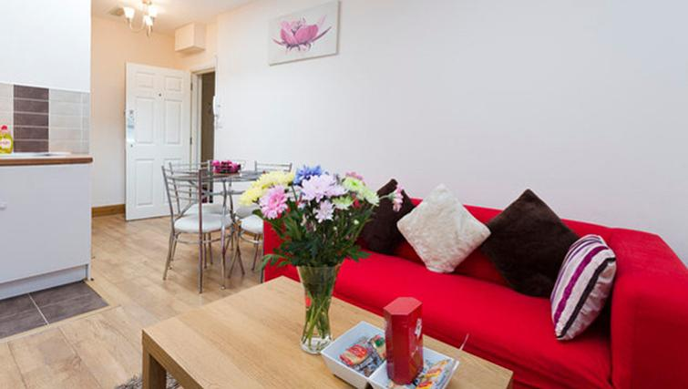 Comfortable living area at Heathrow Apartments