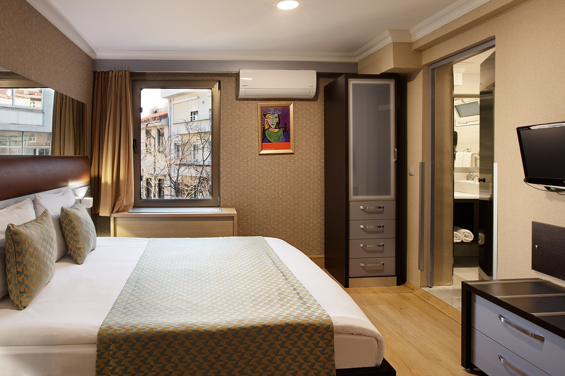 Bed at Gallery Residence, Sisli, Istanbul