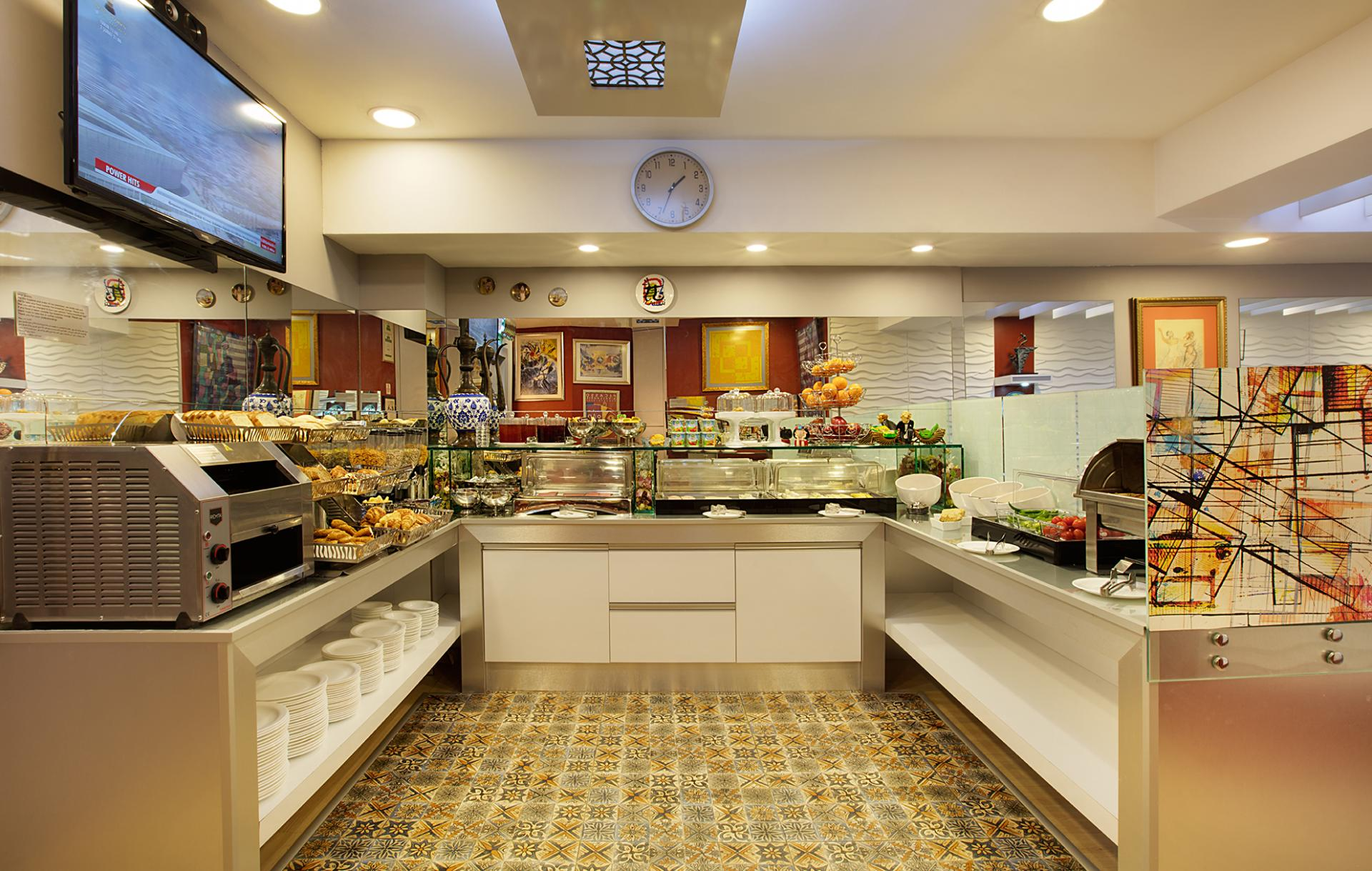 Buffet breakfast at Gallery Residence, Sisli, Istanbul