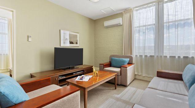 Living area at Quest Launceston Apartments