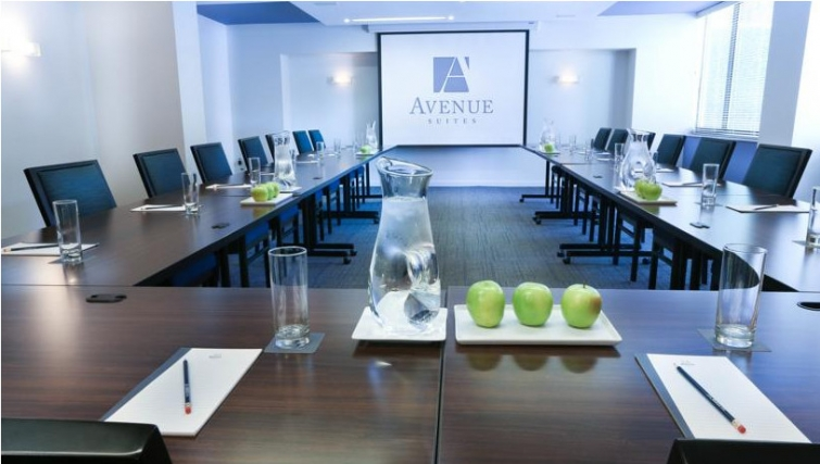 Executive conference room in Avenue Suites Georgetown