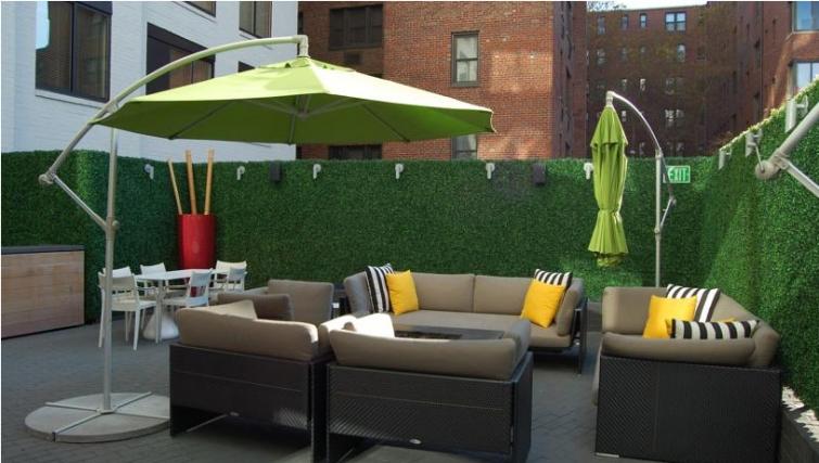 Relaxing terrace of Avenue Suites Georgetown