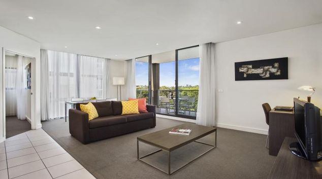 Living room at Quest Ivanhoe Serviced Apartments