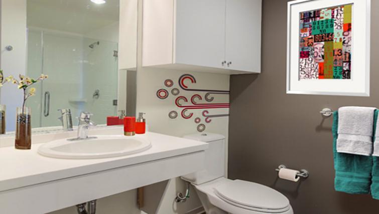 Bathroom at 9th Street Apartment