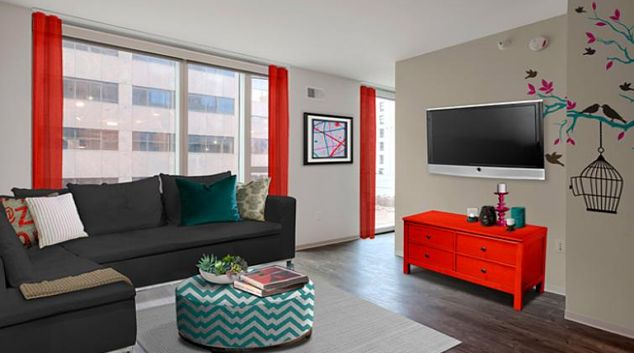 Living room at 9th Street Apartment
