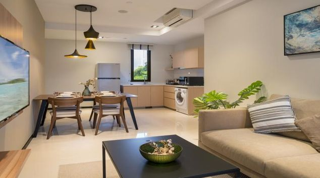 Living room at Ariva On Shan Serviced Residences, Singapore