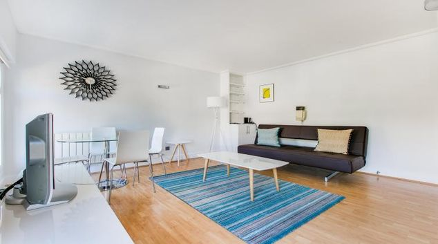 Living area at Albert Apartments