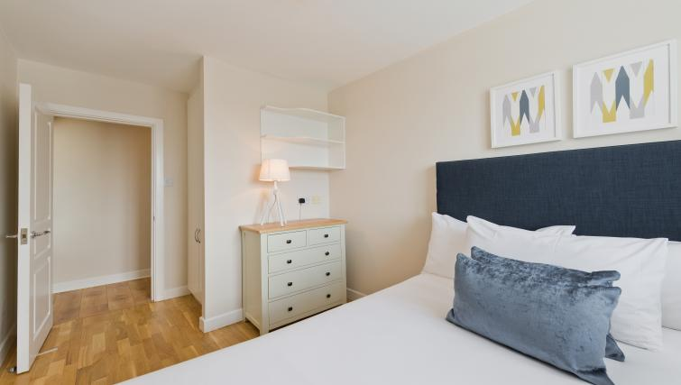 Modern bedroom at Iveagh Court Apartments