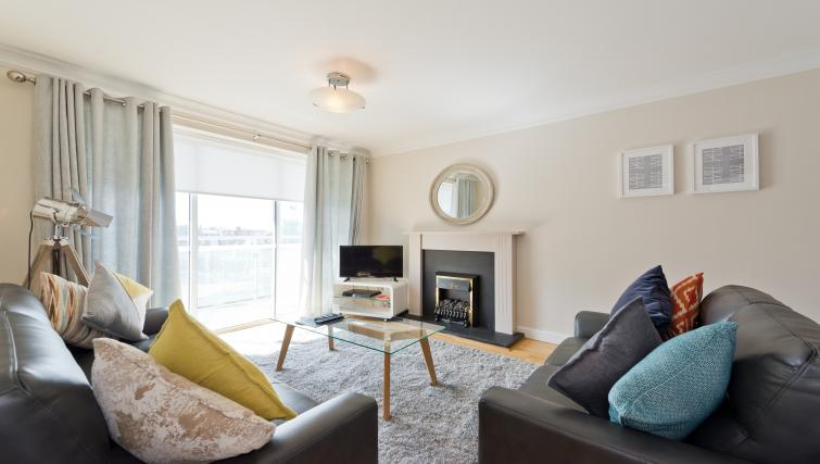 Living room at Iveagh Court Apartments