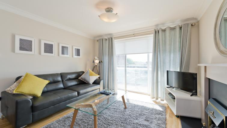 Spacious living room at Iveagh Court Apartments
