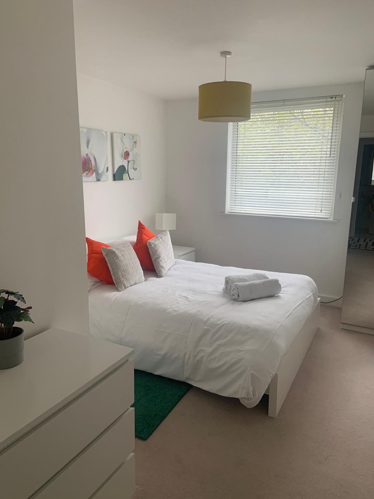 Bed linen at Ocean Village Serviced Apartments, Ocean Village, Southampton