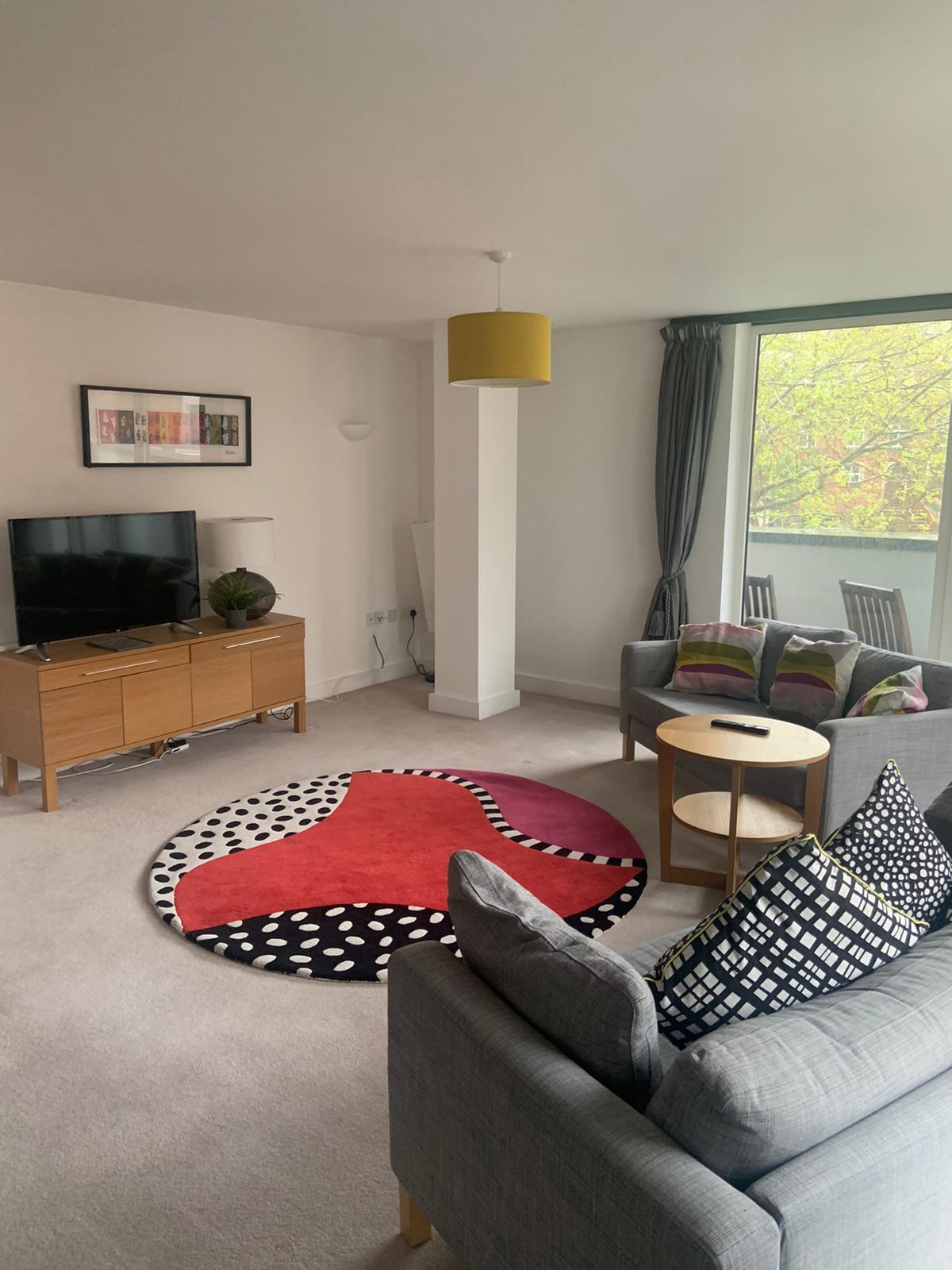 Living area at Ocean Village Serviced Apartments, Ocean Village, Southampton