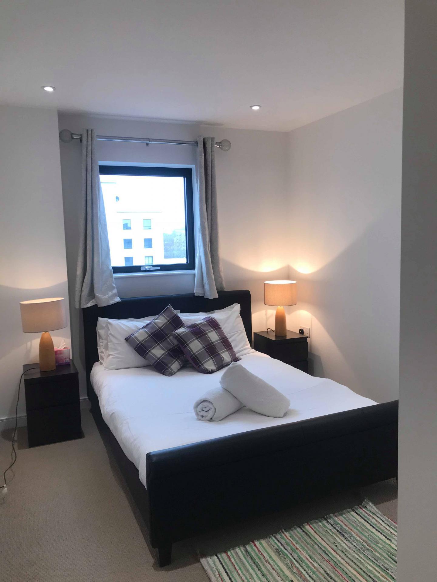 Bedroom at Ocean Village Serviced Apartments, Ocean Village, Southampton